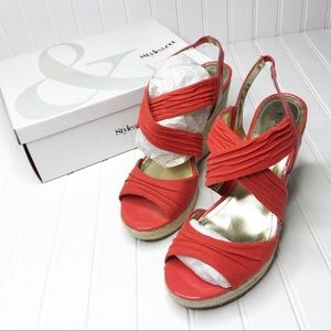 Style & Co. Red Rozz Wedges | Size 11
